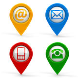 Contact map pointers Stock Photos