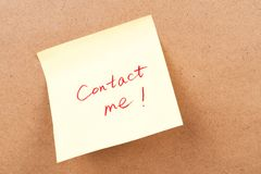 Contact me Royalty Free Stock Photo