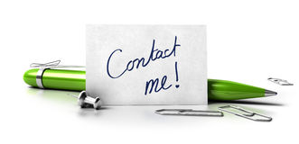 Contact me card Stock Photos