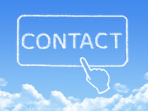 Contact message cloud shape Stock Photos