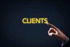 Contact met cliënten royalty-vrije stock foto's