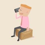 Contact met klanten op Dinsdag vector illustratie