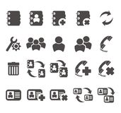 Contact - mobile phone icon sets Royalty Free Stock Photos