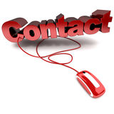 Contact online Stock Images