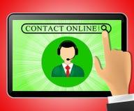 Contact Online Tablet die de Klantendienst 3d Illustrat vertegenwoordigen Royalty-vrije Stock Foto