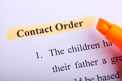 Contact Order Paperwork Stock Photos