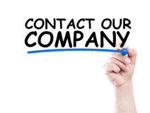 Contact our company Royalty Free Stock Image