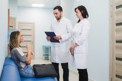 Contact with patient is very important for create positive thinking royalty free stock photo