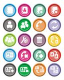 Contact round icon sets Royalty Free Stock Photo