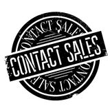 Contact Sales rubber stamp Royalty Free Stock Image