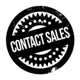 Contact Sales rubber stamp Stock Photo