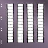 Contact sheet movie filmstrip. Contact sheet 35 mm widescreen movie filmstrip, free space for pix Stock Image
