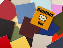 Contact sign for Business & Customer Service. Stock Images
