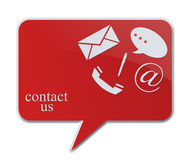Contact signs. Commercial  contact signs for business Stock Images
