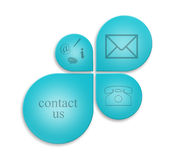 Contact signs. Commercial  contact signs for business Royalty Free Stock Images