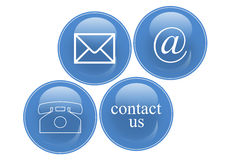 Contact signs. Commercial  contact signs for business Stock Photo