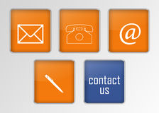 Contact signs Stock Image