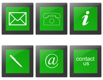 Contact signs. Commercial  contact signs for business Royalty Free Stock Photos
