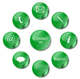 Contact signs. Commercial  contact signs for business Stock Photography
