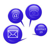 Contact signs. Commercial  contact signs for business Stock Image