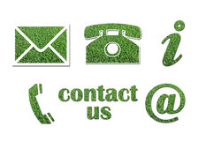 Contact signs. Contact us signs in white background Royalty Free Stock Photo