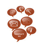 Contact signs. Contact us signs in white background Royalty Free Stock Image