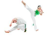 Contact Sport .Capoeira. Royalty Free Stock Photos