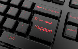 Contact support keyboard concept Stock Photos