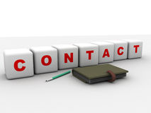 Contact symbol Royalty Free Stock Photos