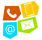Contact Symbol Design Royalty Free Stock Images