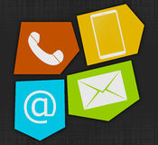 Contact Symbol Design Stock Images