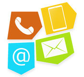 Contact Symbol Design Royalty Free Stock Photography