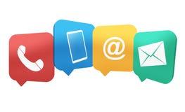 Contact Symbols. Creative illustration Graphic Communication Symbols Icons Stock Images
