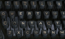 Contact - Typewriter Royalty Free Stock Images