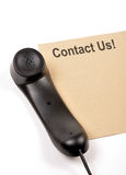 Contact us. This image easily use to contact us concept royalty free stock images