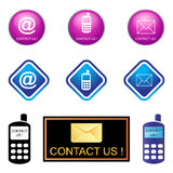 Contact us. Illustration of Contact us icon series Stock Images