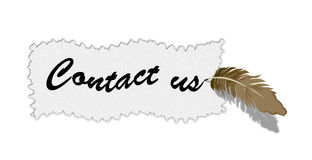 Contact us. Illustration on a white background Royalty Free Stock Photos