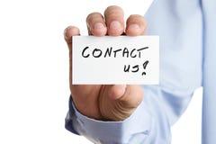 Contact us! Stock Photo