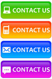 Contact us. Communication through various channels (e-mail, cell phone, letter, online message Royalty Free Stock Photo