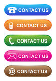 Vector illustration contact us icon web button vector illustration