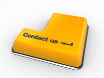 Contact us. 3d keyboard with contact us button. 3d render Royalty Free Stock Image