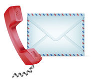 Contact Us. Icon. Phone receiver and mail. EPS-10 Stock Photos