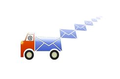 Contact Us. Tons of Email delivered to your inbox stock illustration