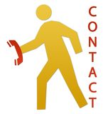 Contact Us. Mail and Phone stock illustration
