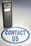 Contact us. Be sure to contact us Royalty Free Stock Photo