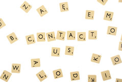 Contact us abstract with clipping paths Royalty Free Stock Photos