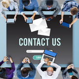 Contact Us Assistance Business Contact Help Concept Stock Image