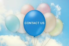 Contact us on balloon stock photography