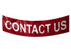Contact us banner Stock Photo