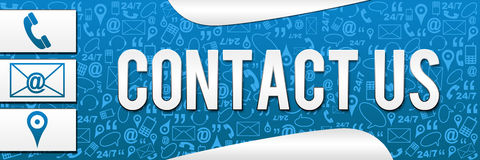 Contact Us Banner Texture Vector Illustration
